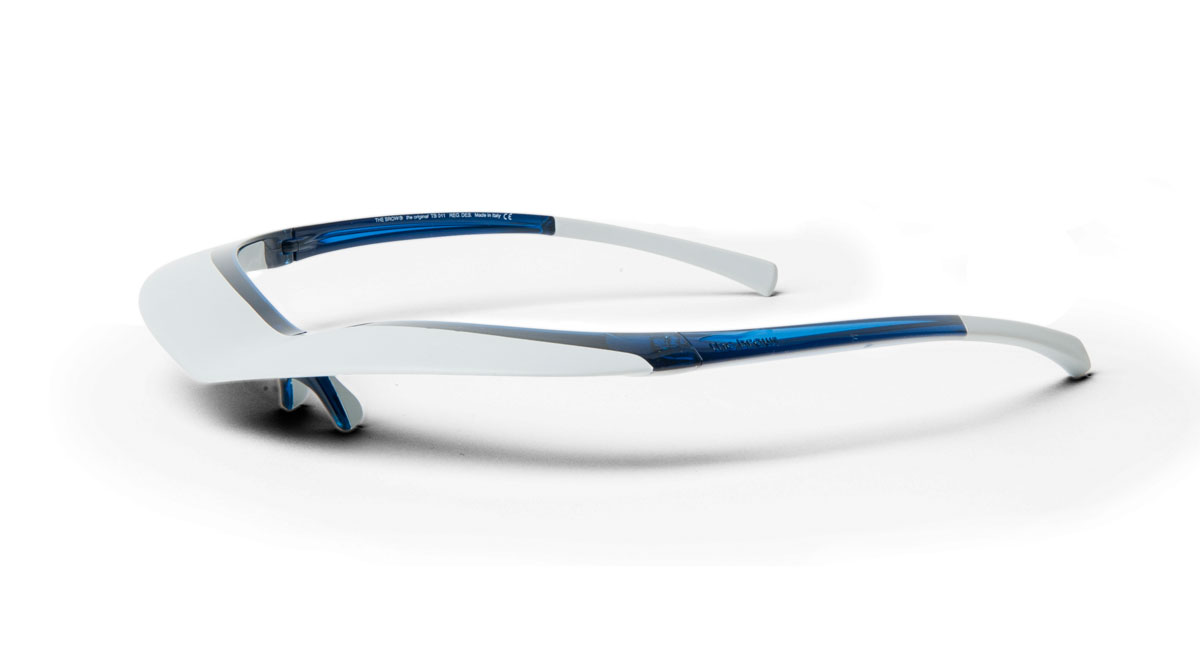 Transparent Azur Blue / Light Grey